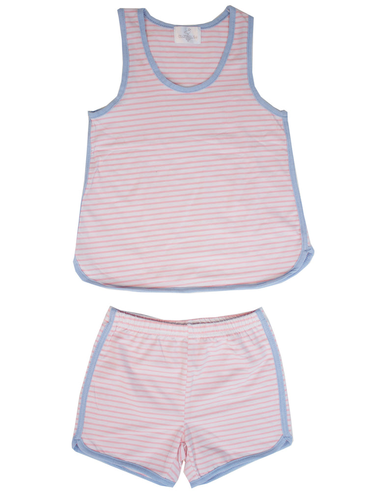 Resort Set Light Pink Stripe