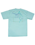 Short Sleeve Performance Tee Marlin Seafoam