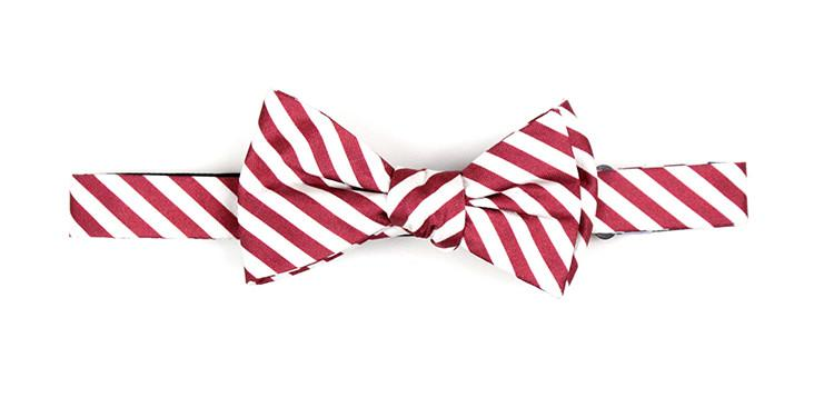 Bow Tie Maroon and White