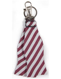 Bow Tie Keychain Maroon and White