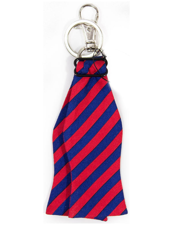 Bow Tie Keychain Navy and Red