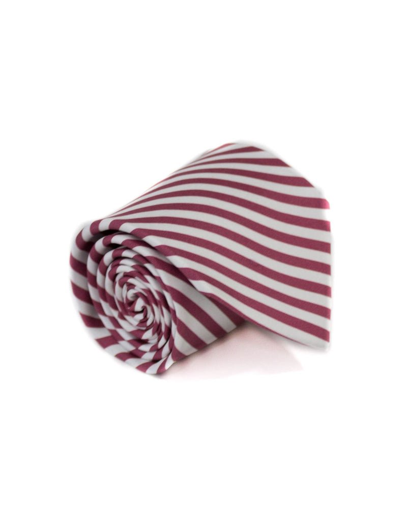 Neck Tie Maroon and White