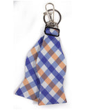Bow Tie Keychain Orange Navy Gingham