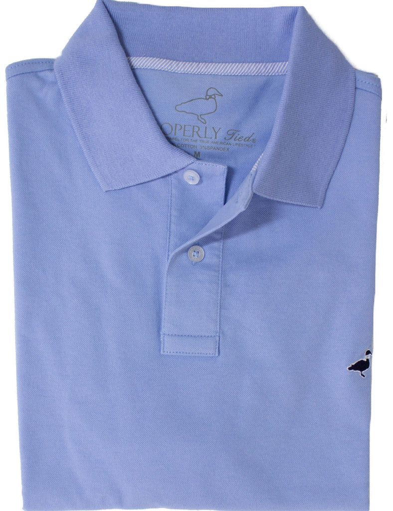 Pique Sport Polo Light Blue