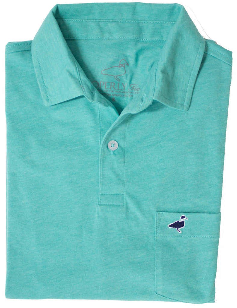 Lil Ducklings Pocket Polo Soft Green