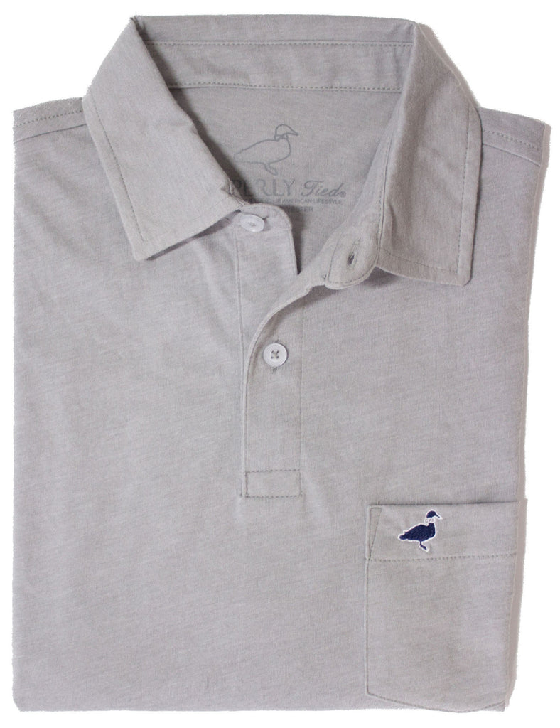Lil Ducklings Pocket Polo Light Grey
