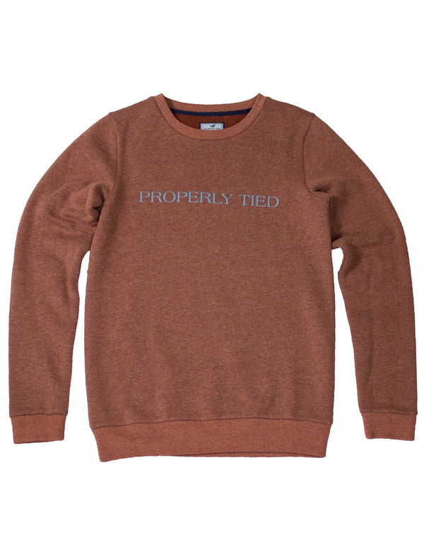 LD Deane Printed Crew Rust Heather