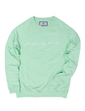 Lil Ducklings Printed Crew Neck Seafoam