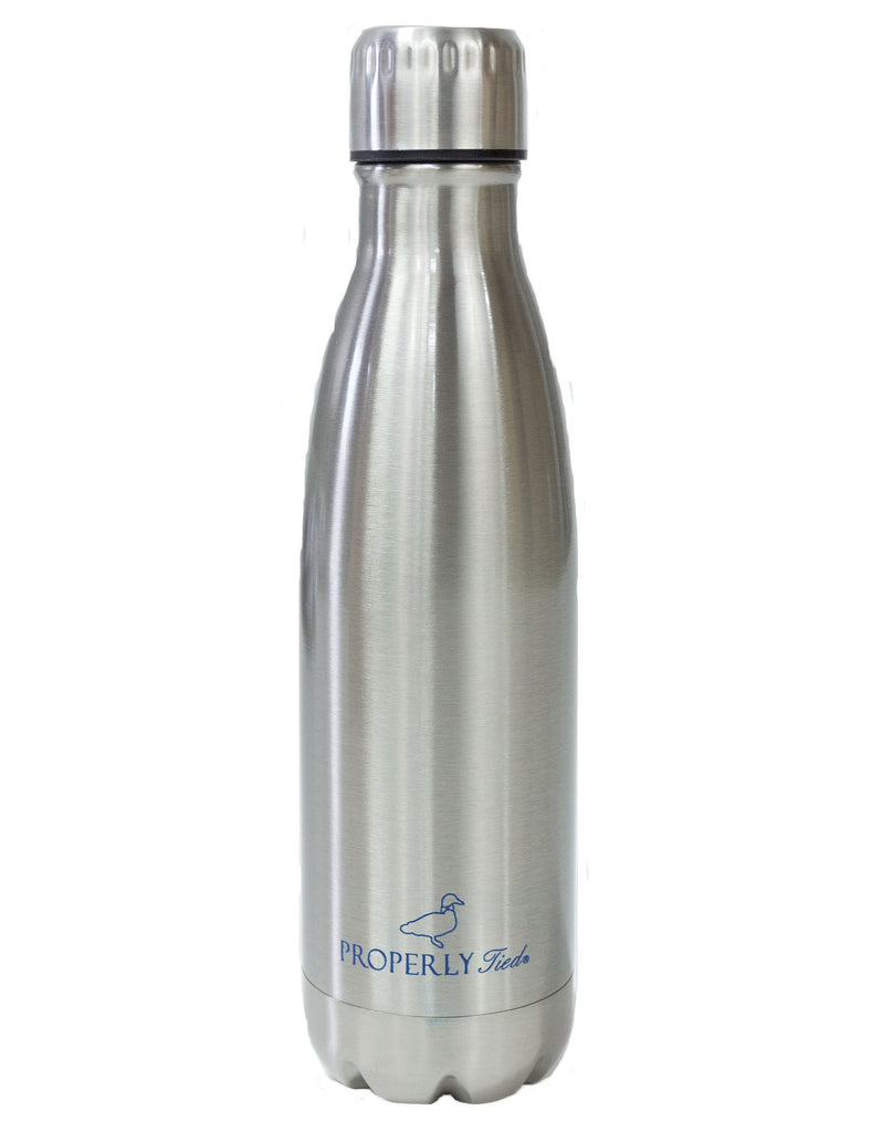 Insulated Water Bottle Chrome Grey