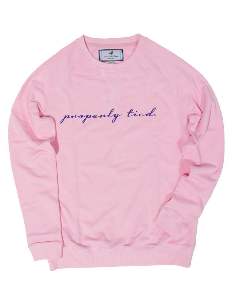 Printed Crew Neck Soft Pink