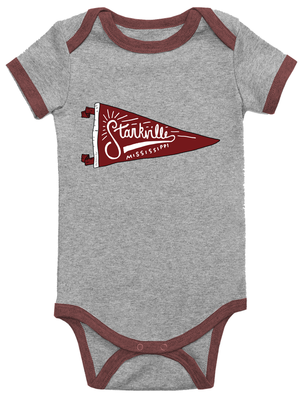 BABY PENNANT ONEPIECE - STARKVILLE - LIGHT HEATHER GREY - FINAL SALE