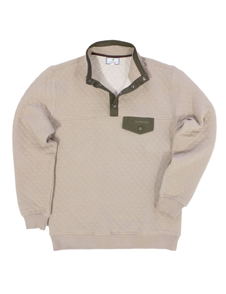 Quilted Pullover Tan