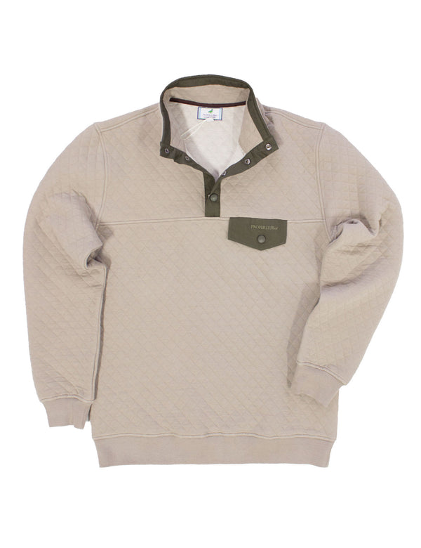 Monroe Quilted Pullover Tan