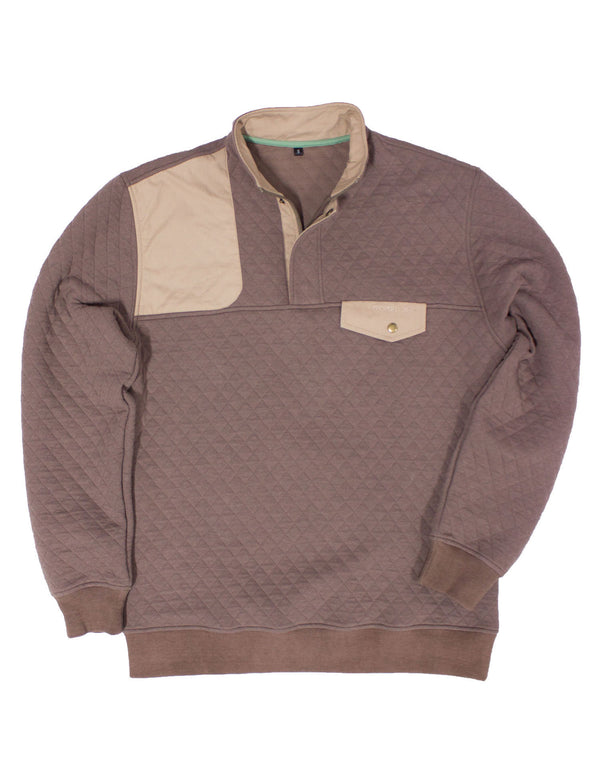 Quilted Shooter Pullover Walnut