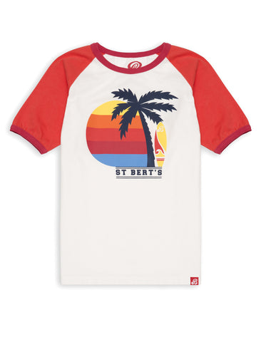 T-Shirt Palm Trees - Poppy Red