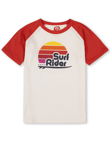 T-Shirt Surf Rider - Poppy Red