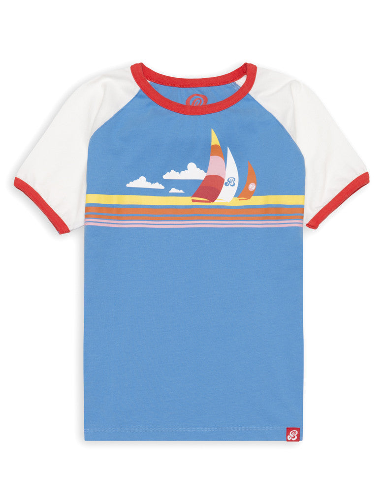 T-Shirt Sailboats - Marina Blue