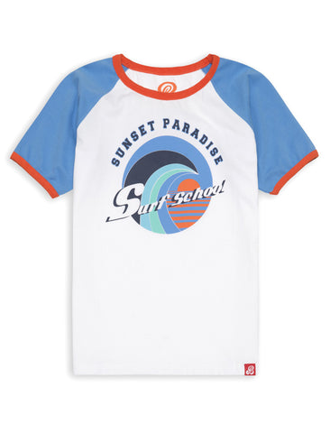 T-Shirt Surf School - Marina Blue