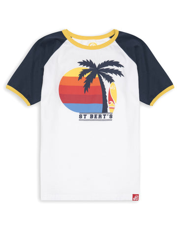 T-Shirt Palm Trees - Dress Blue