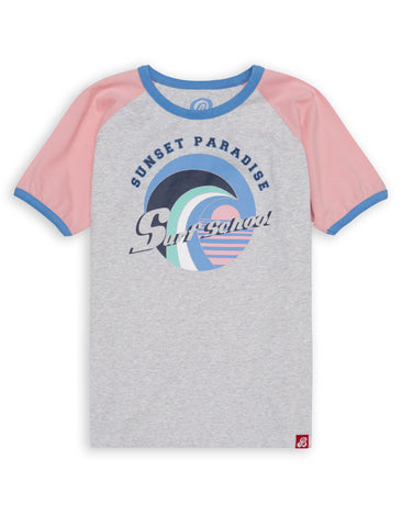 T-Shirt Surf School - Flamingo Pink