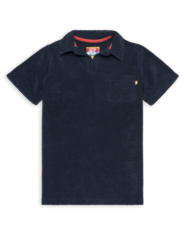 Terry Polo Shirt - Dress Blue