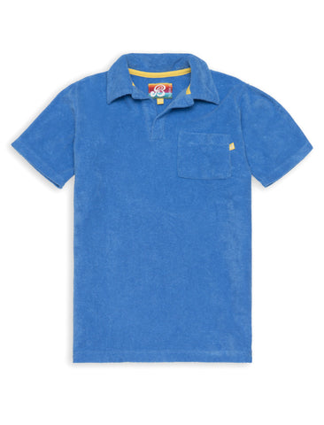 Terry Polo Shirt - Marina Blue