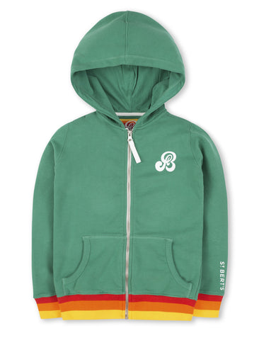 Zip-Through Hoodie - Kelly Green