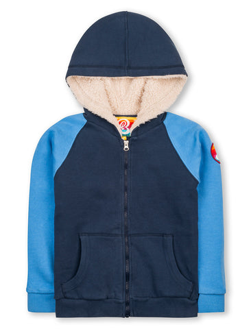 Sherpa Hoodie - Dress Blue