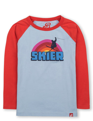 T-Shirt Rainbow Skier - Bluebell