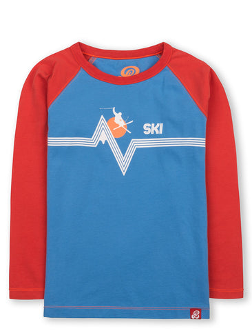 T-Shirt Mountain Ski - Marina Blue