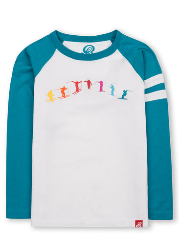T-Shirt Jumping Skier - Enamel Blue