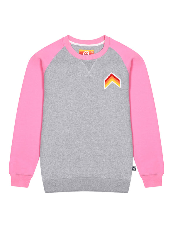 Women's Sweatshirt - Chevron - Nimbus Grey