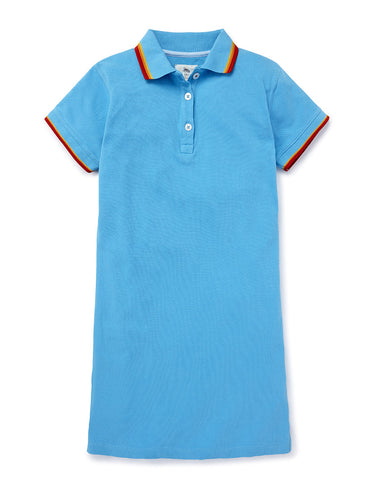 Polo Dress - River Blue