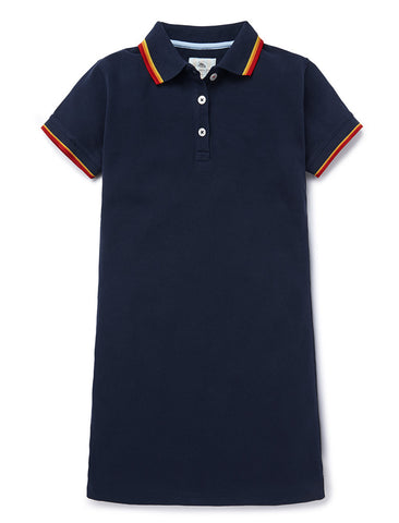 Polo Dress - Dress Blue