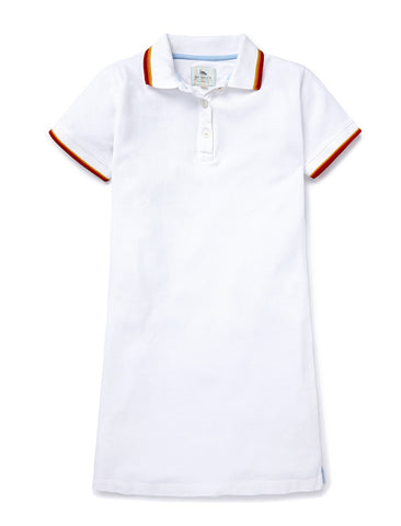 Polo Dress - Optic White