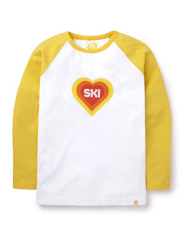 T-Shirt Ski Heart - Freesia Yellow