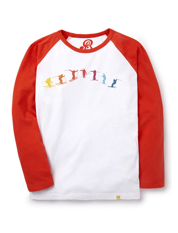T-Shirt Jumping Skier - Poppy Red