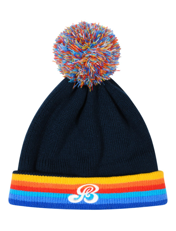 Kids Rainbow Bobble Hat