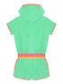 Hooded Playsuit - Fresh Green