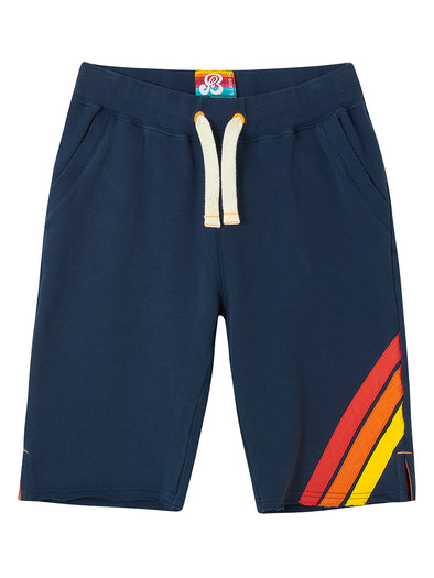 Boys Front Stripe Shorts - Dress Blue