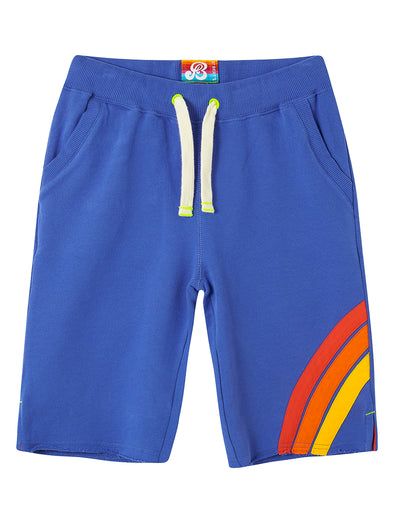 Boys Front Stripe Shorts - Dazzling Blue