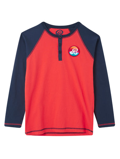 Henley - Poppy Red/Dress Blue