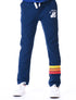 Kids Cinched Applique Sweatpants - Dress Blue/Yellow/Orange/Red