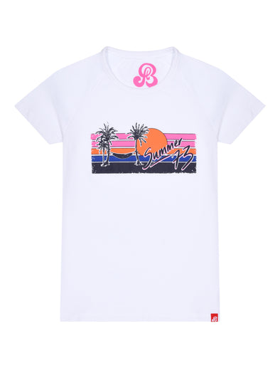 Women's T-Shirt Sunset Summer 73 - Optic White