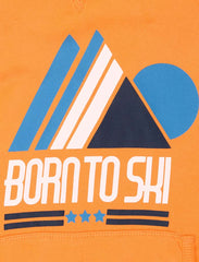 Born to Ski Hoodie - Blazing Orange