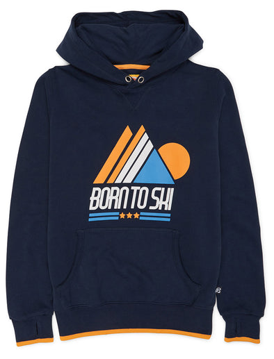 Born to Ski Hoodie - Dress Blue
