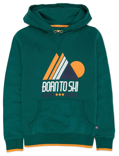 Born to Ski Hoodie - Evergreen