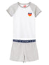 Girls Heart PJs - Nimbus Grey/Cloud Dancer