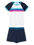 Girls Rainbow PJs - Dress Blue/Cloud Dancer