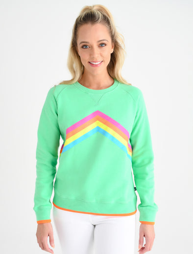 Women's Rainbow Sweatshirt - Fresh Green